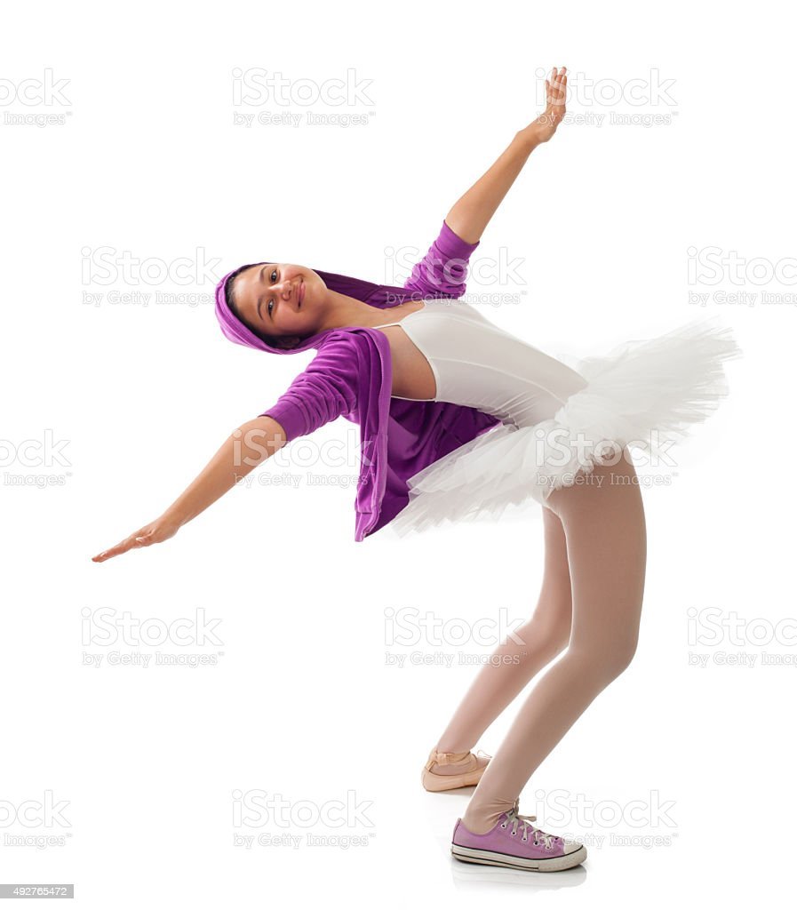 Ballerina, classical and modern concept of ballet. stock photo