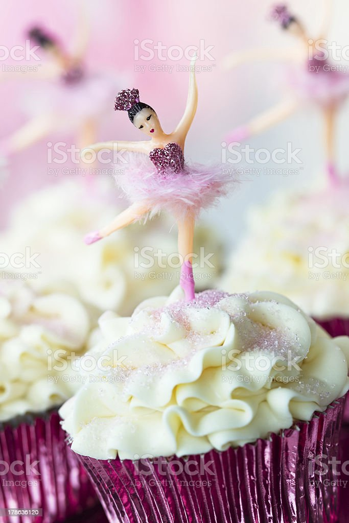 Ballerina cupcakes royalty-free stock photo
