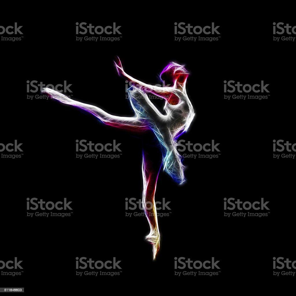 Ballerina dance concept royalty-free stock photo