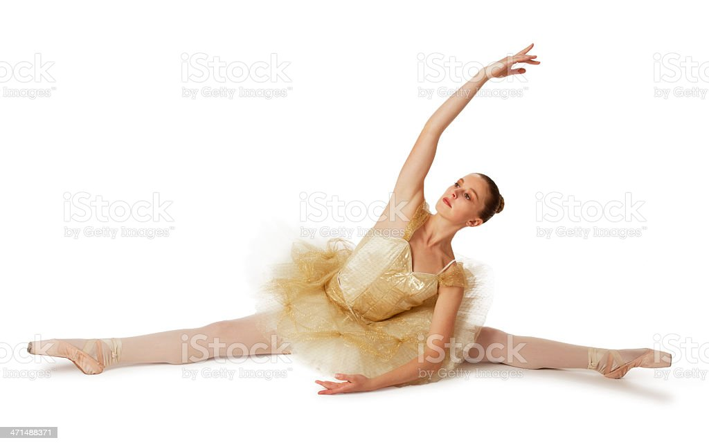 Ballerina Doing the Splits royalty-free stock photo