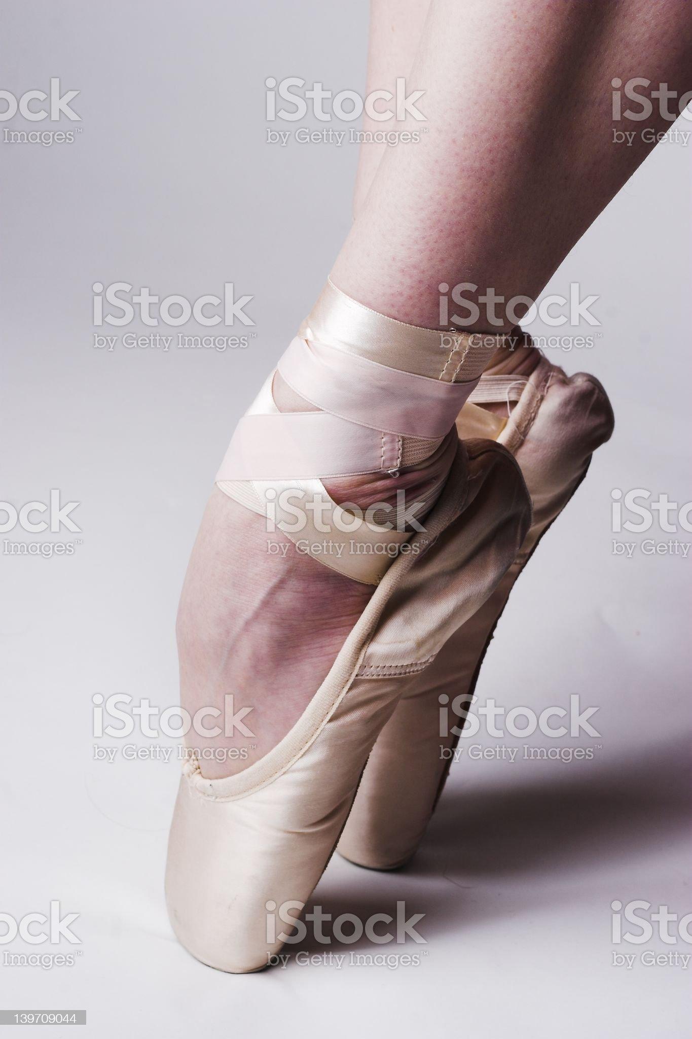 Ballerina Feet royalty-free stock photo