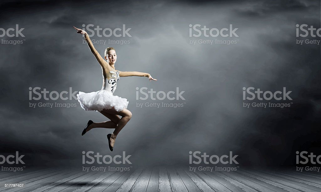 Ballerina girl stock photo