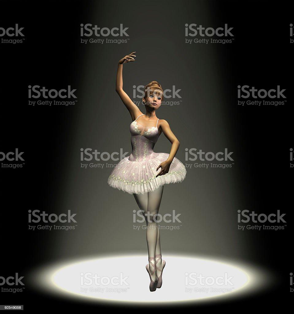 Ballerina in Spotlight royalty-free stock photo