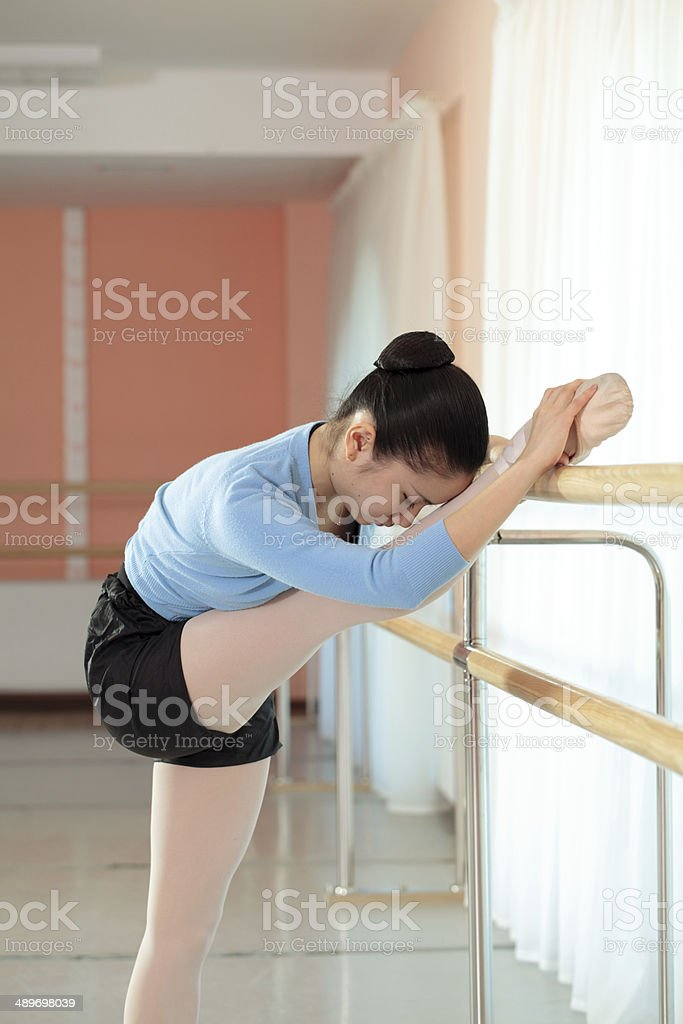 ballerina in the gym royalty-free stock photo