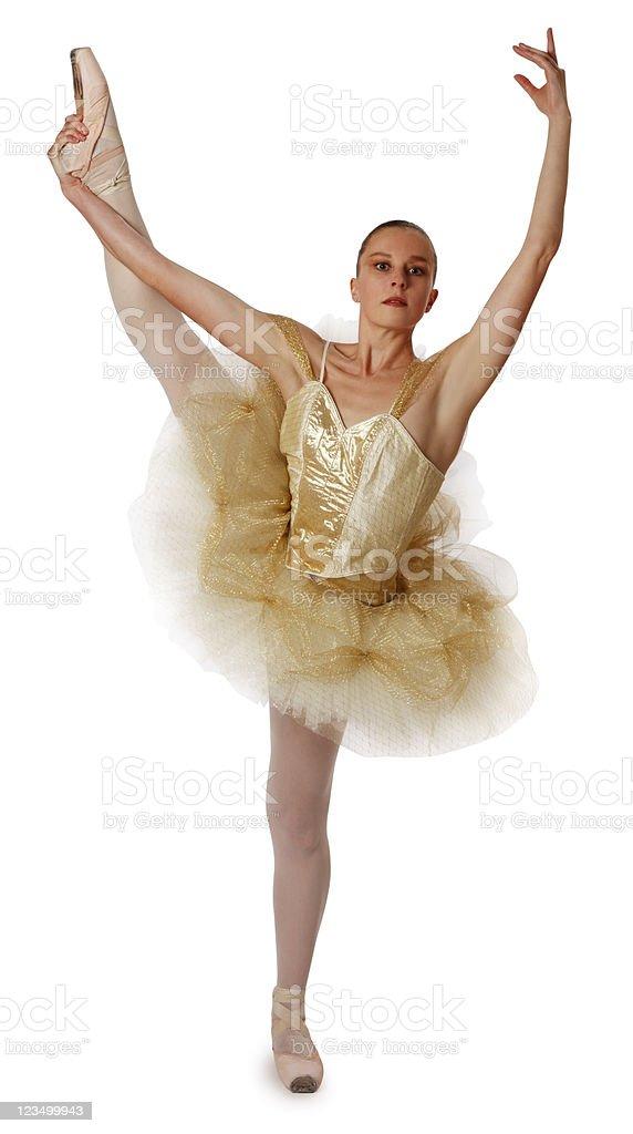 Ballerina Isolated on a White Background stock photo