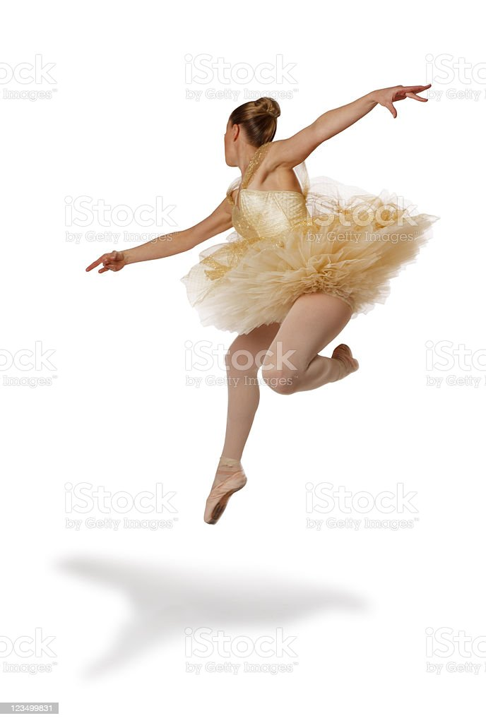 Ballerina Jumping in the Air royalty-free stock photo