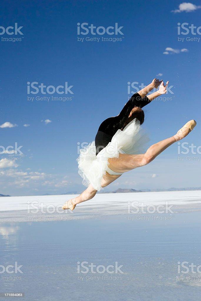 Ballerina Jumping royalty-free stock photo