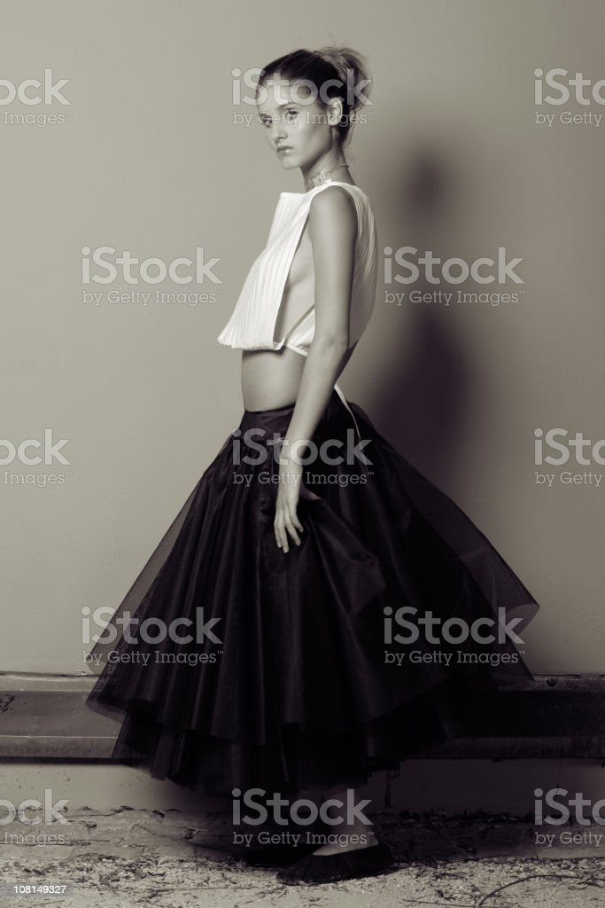 Ballerina model stock photo