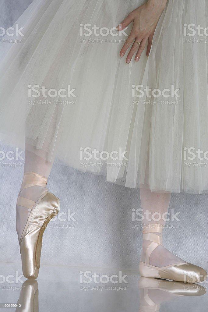 ballerina on pointes royalty-free stock photo