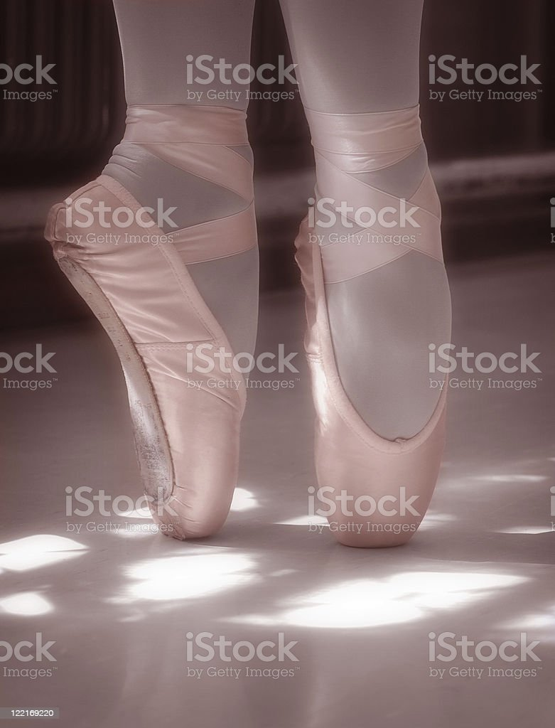 Ballerina: Pink Classical Ballet Pointe Shoes royalty-free stock photo