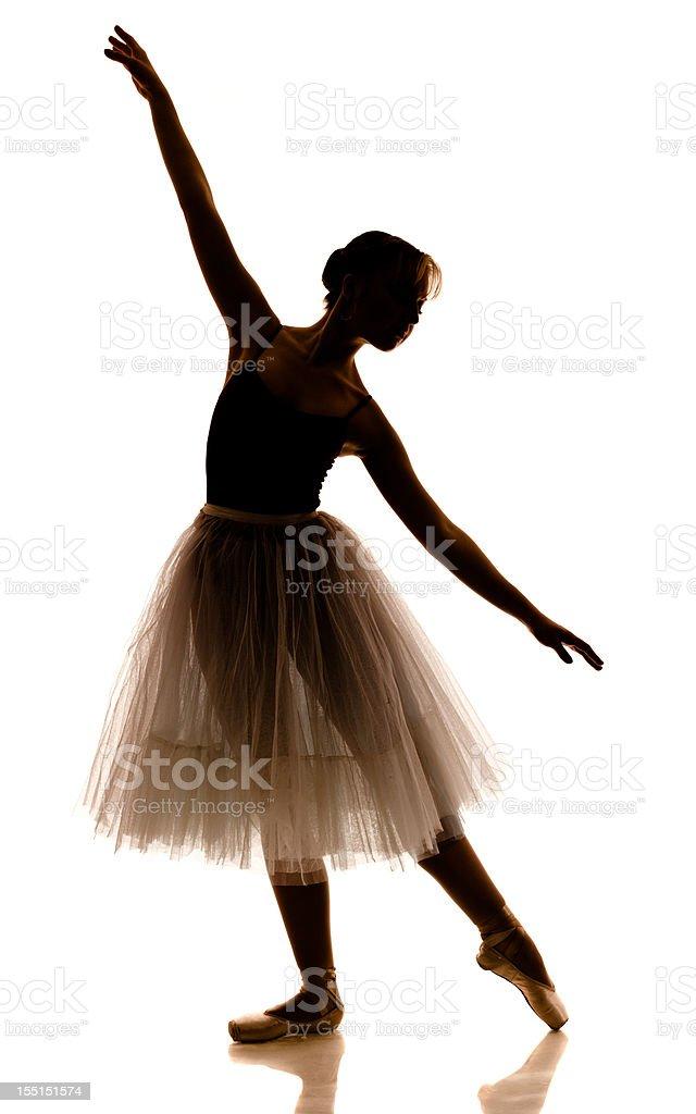 Ballerina Silhouette stock photo