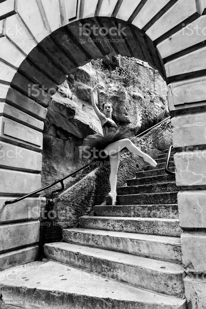 Ballerina Steps Arch stock photo