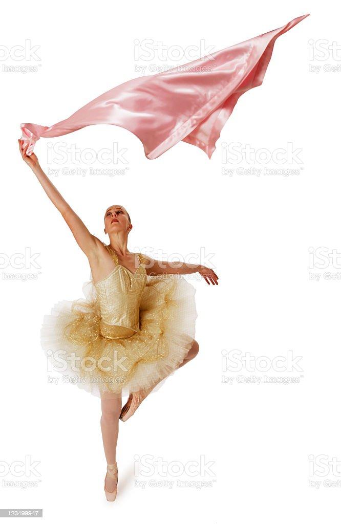 Ballerina Waving a Baby Blanket royalty-free stock photo
