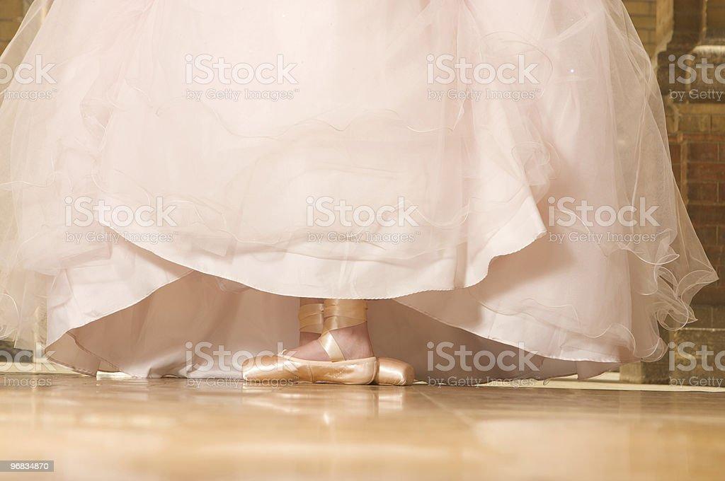 Ballerina wearing a long night dress royalty-free stock photo