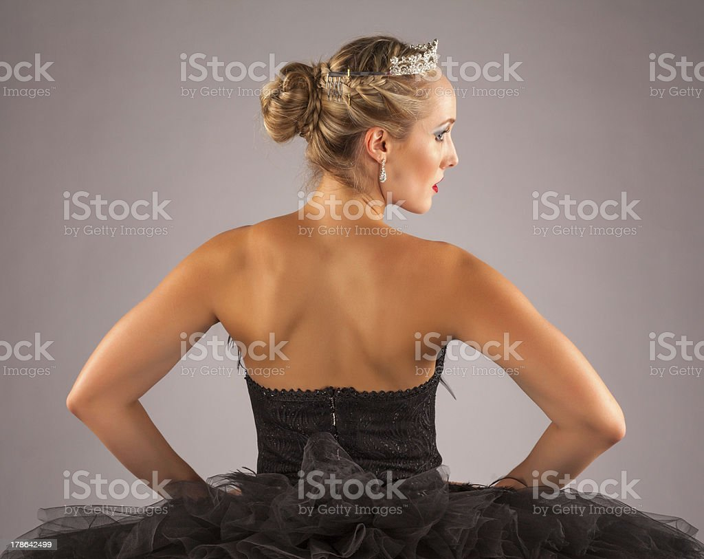 Ballerina with hands on her hips. royalty-free stock photo