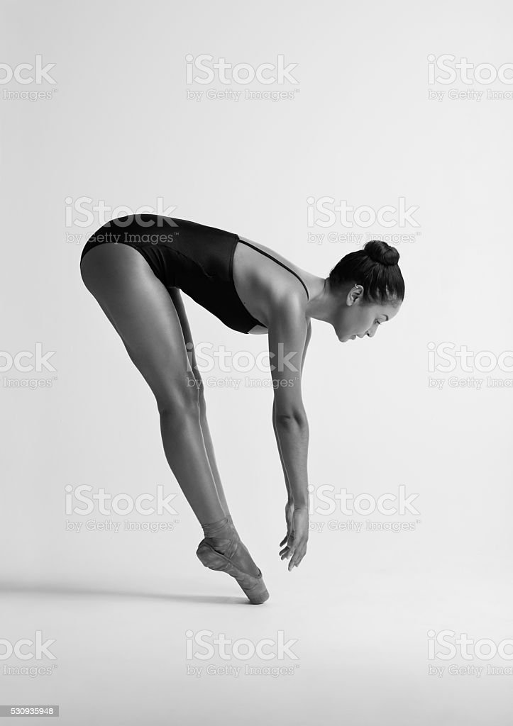 Ballerinas may look fragile but they're stronger than you think stock photo
