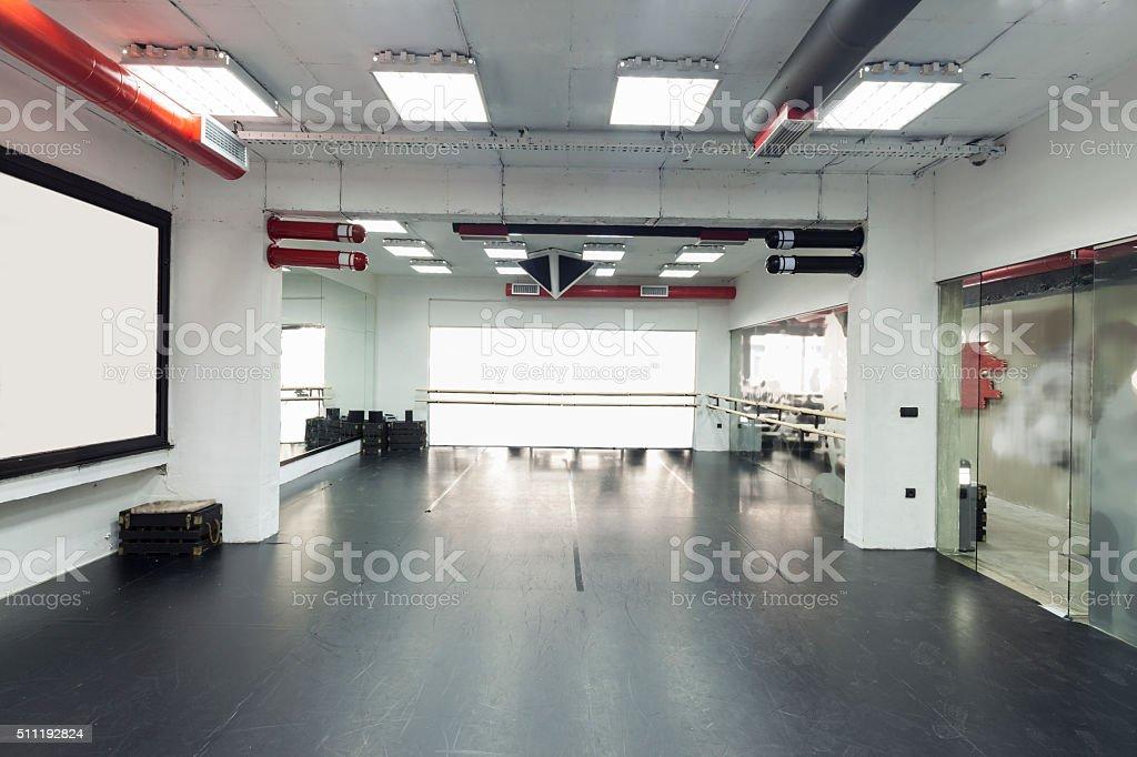 ballet and training room stock photo