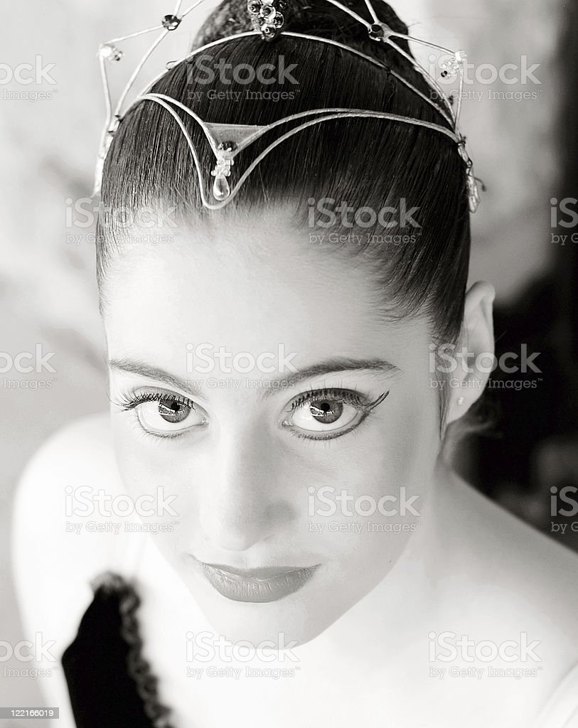 Ballet: Ballerina in Tutu with full makeup and headdress royalty-free stock photo