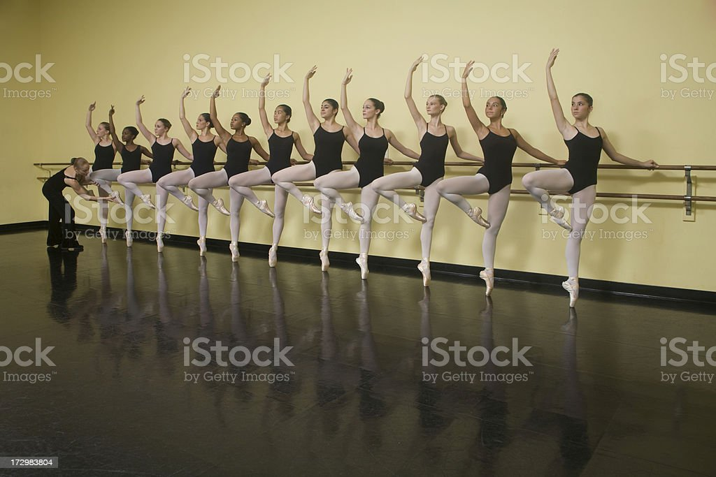 Ballet Class Instruction royalty-free stock photo
