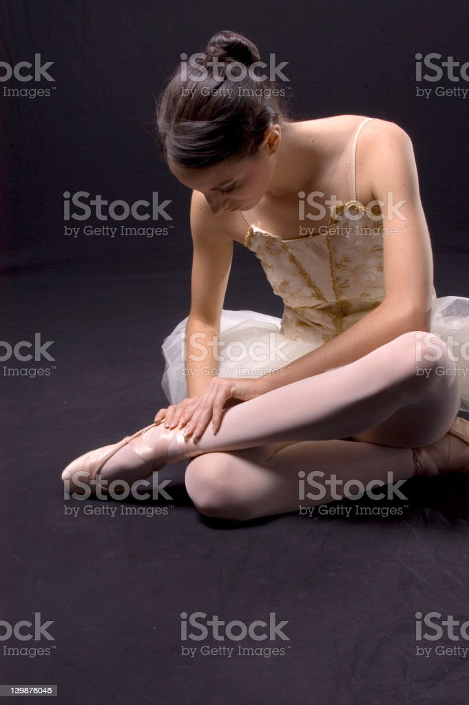Ballet concentration royalty-free stock photo