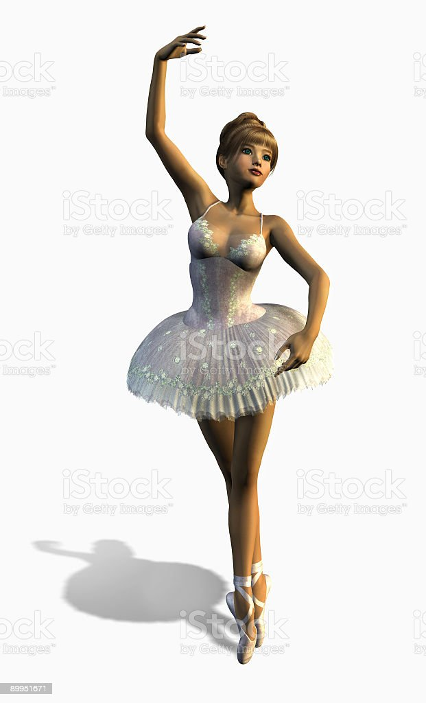 Ballet Dancer 2 - with clipping path royalty-free stock photo