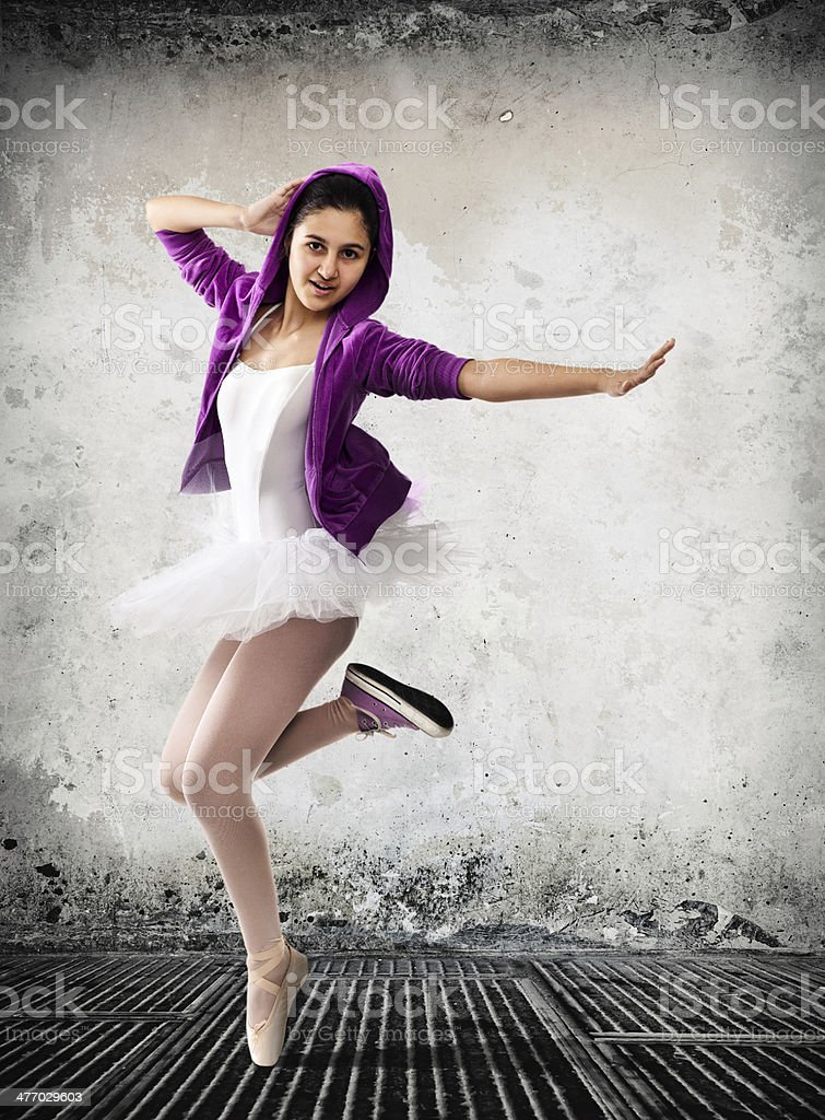 Ballet dancer, concept  of classic and modern stock photo