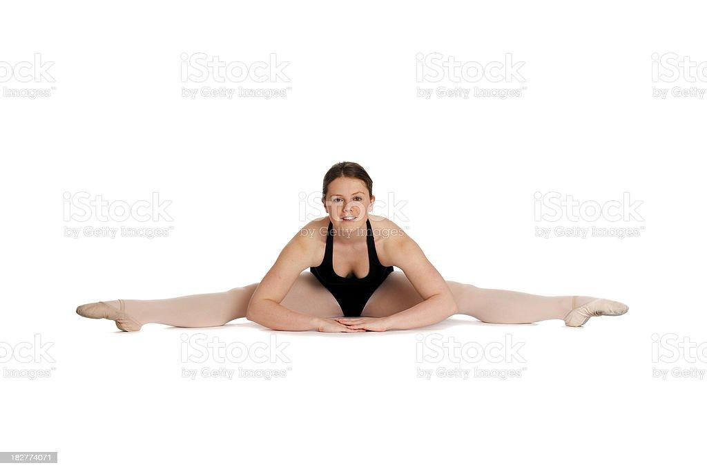 Ballet dancer doing the splits royalty-free stock photo