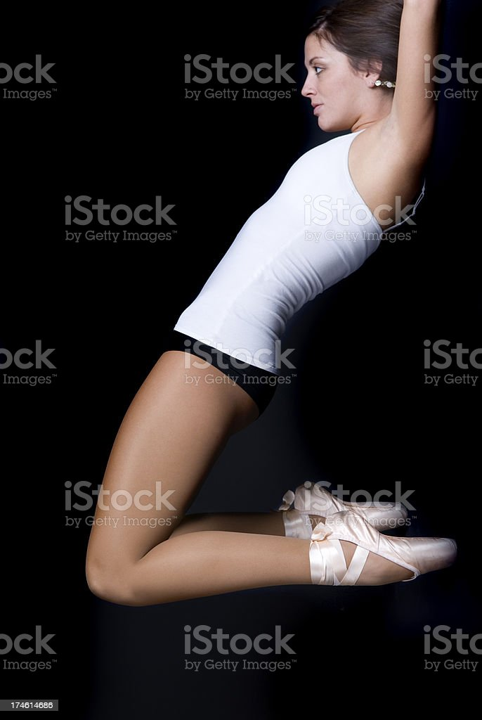 Ballet Dancer In Air royalty-free stock photo