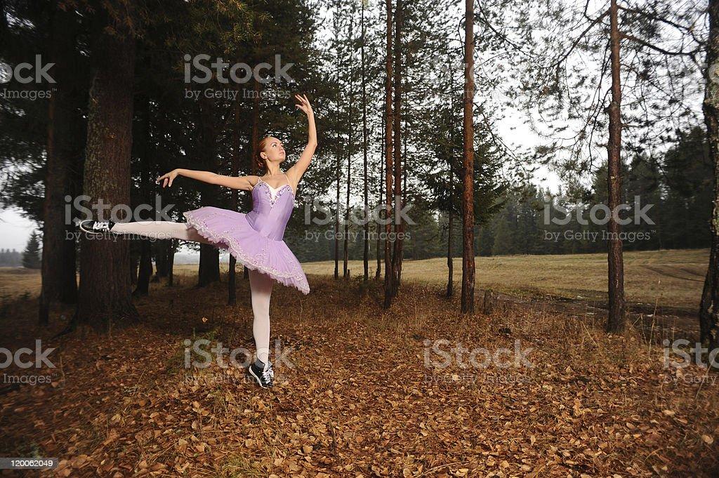 ballet dancer in sneakers royalty-free stock photo