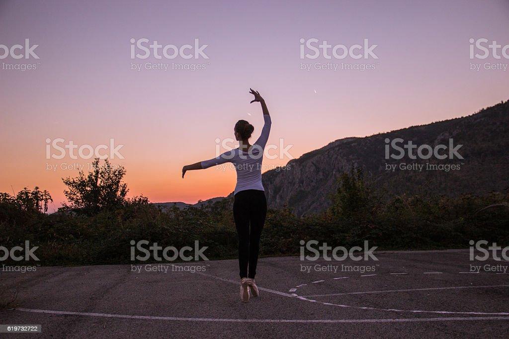 Ballet dancer royalty-free stock photo
