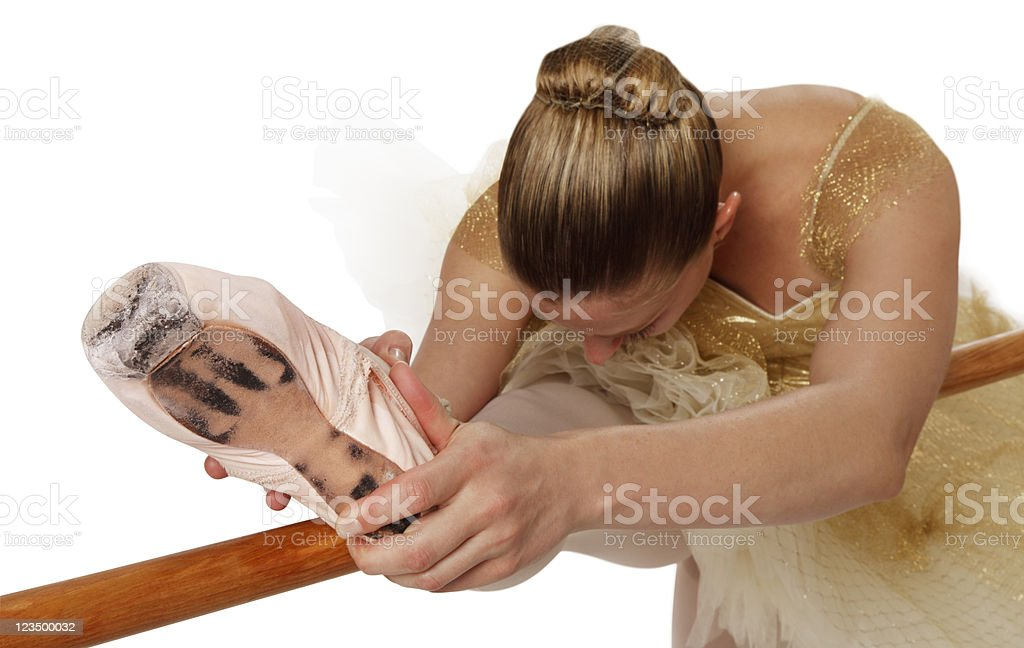 Ballet Dancer Stretching stock photo