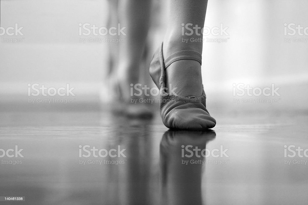 Ballet dancers feet and legs. royalty-free stock photo