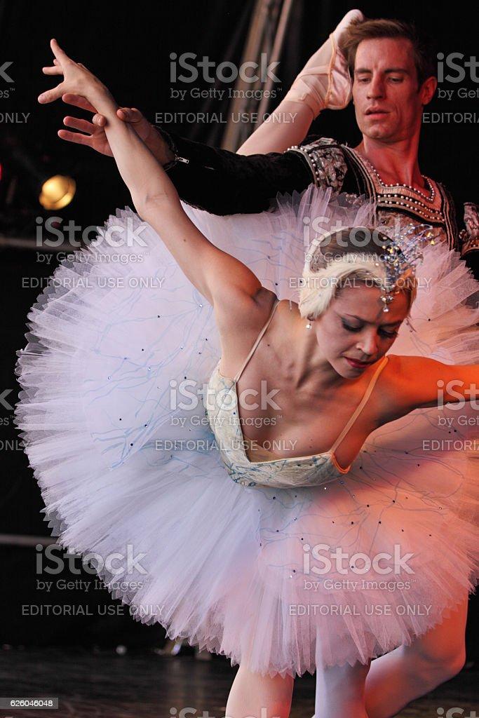 Ballet dancers performing in Bristol UK stock photo