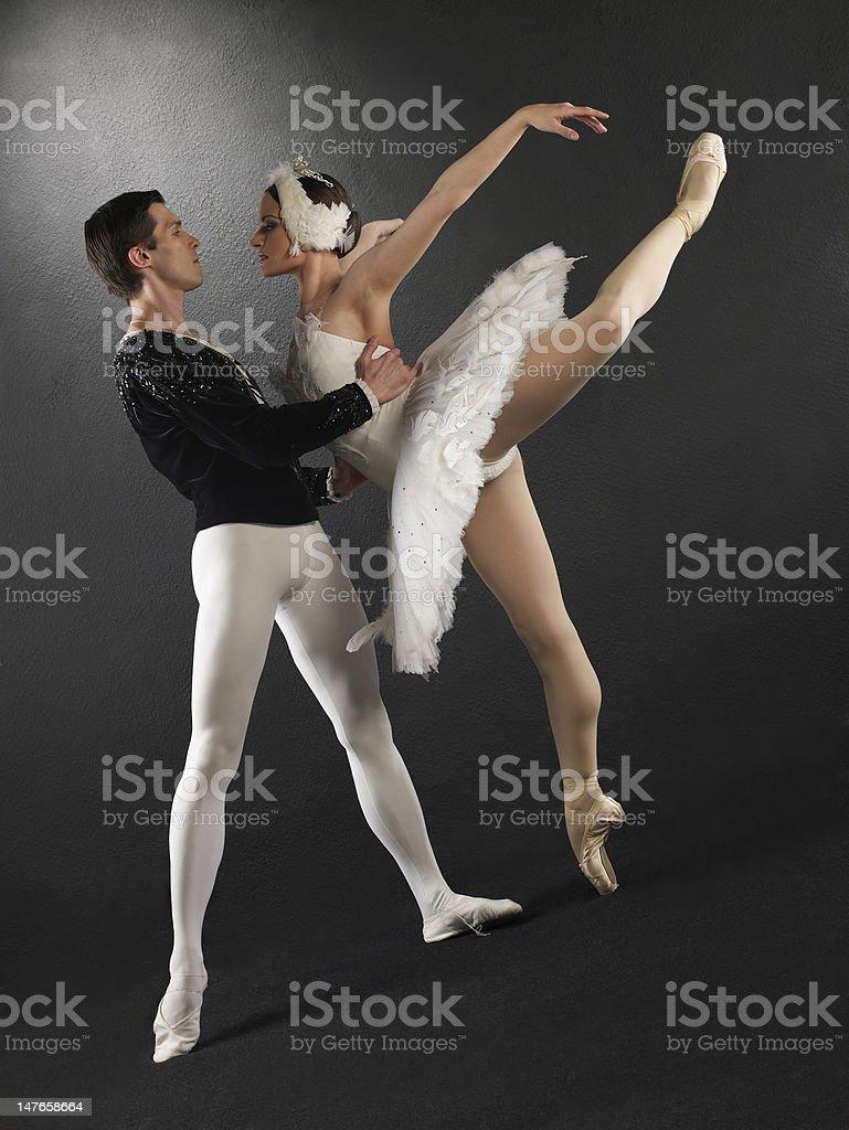 Ballet dancers stock photo