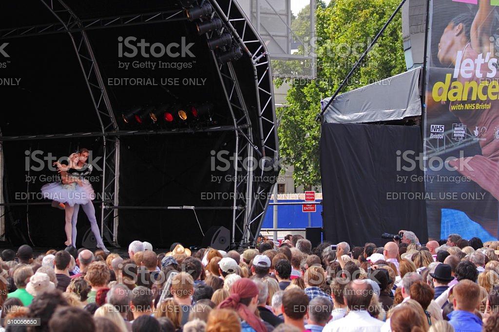 Ballet dancing in Bristol UK stock photo