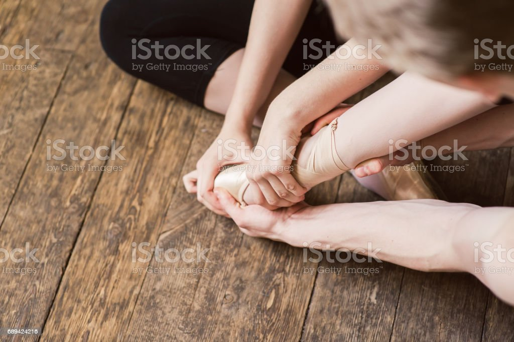 Ballet Foot Stretch stock photo