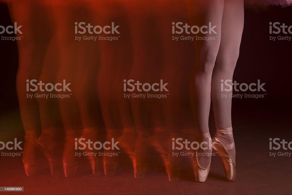 Ballet legs royalty-free stock photo