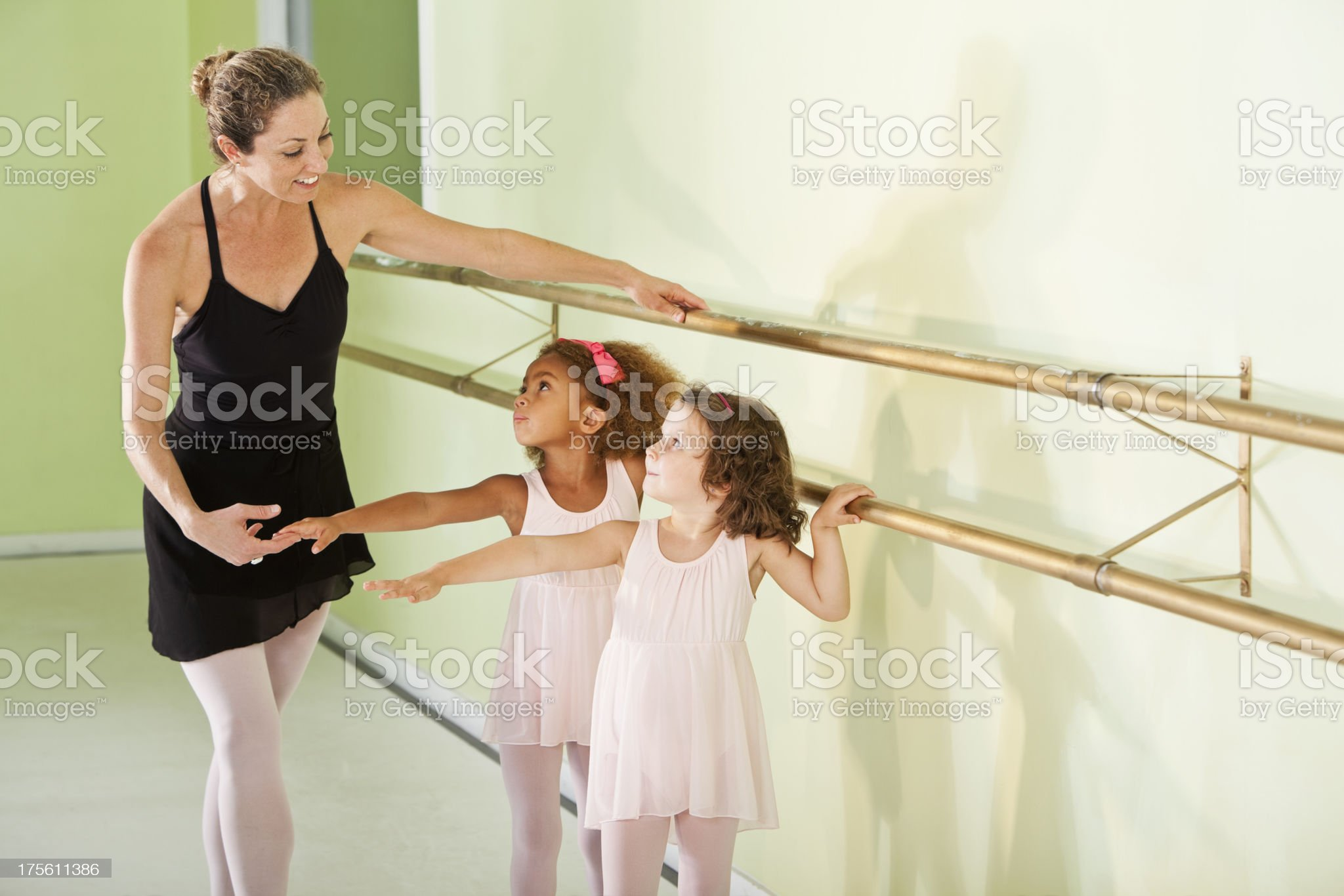 Ballet lesson royalty-free stock photo