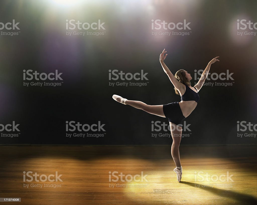 Ballet on Stage stock photo