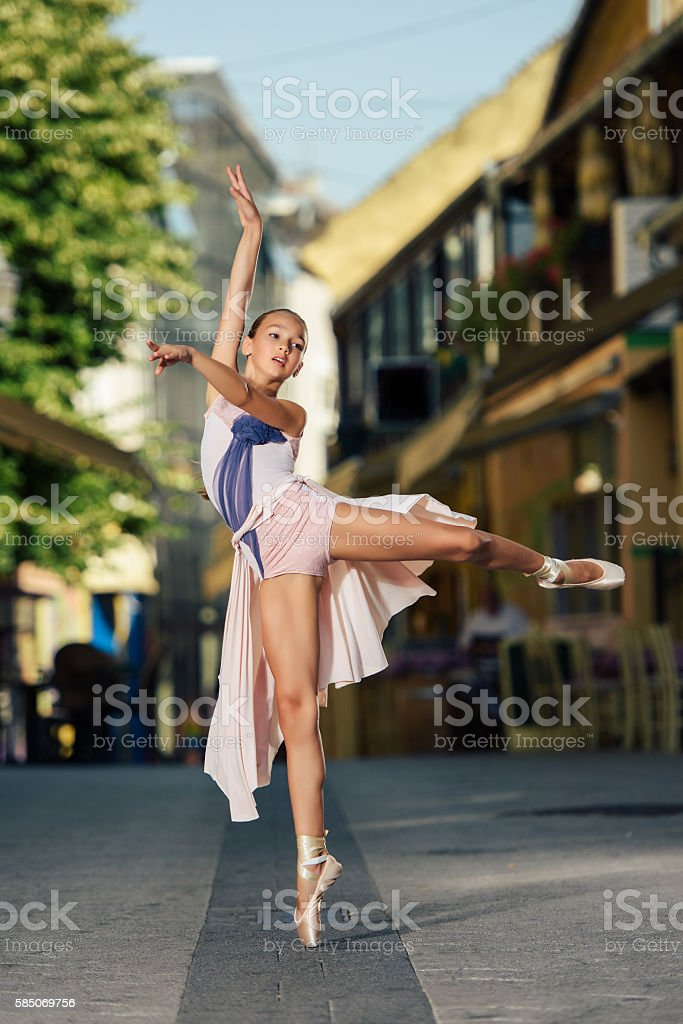 Ballet Performance on the Street stock photo