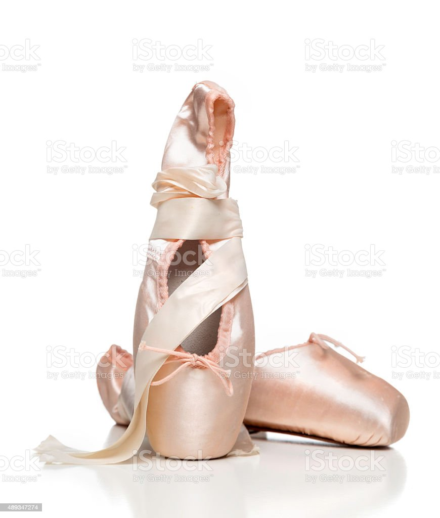 ballet pointe shoes stock photo