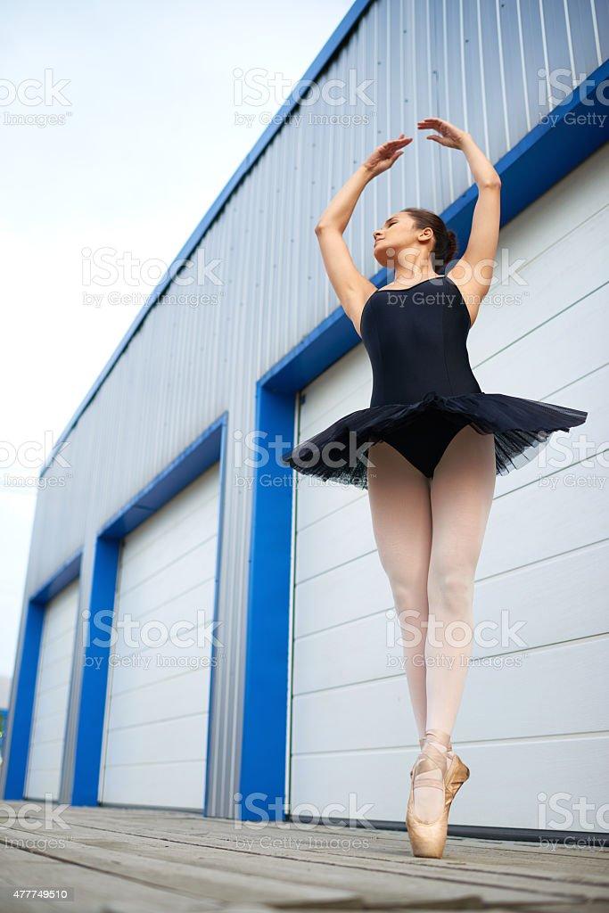 Ballet position stock photo
