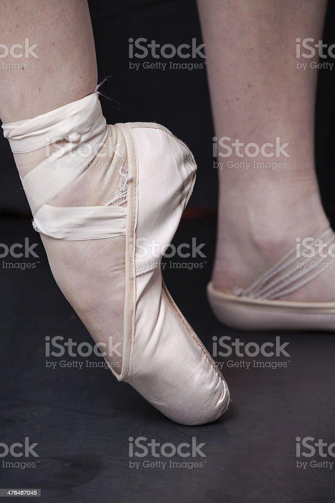 Ballet shoe royalty-free stock photo