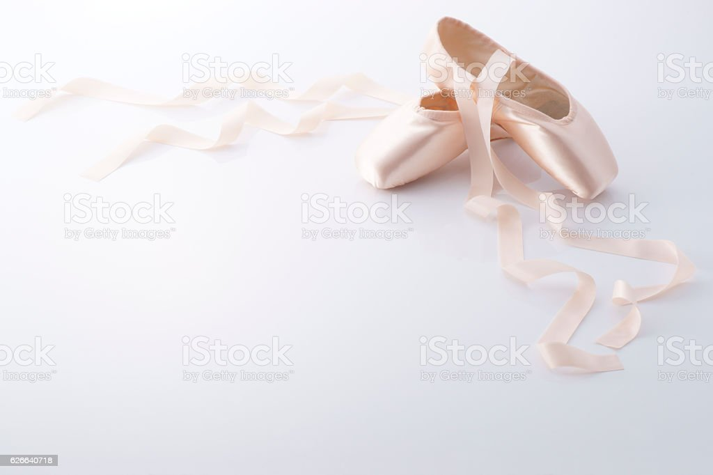Ballet shoes stock photo