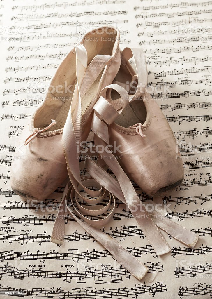 Ballet Slippers stock photo