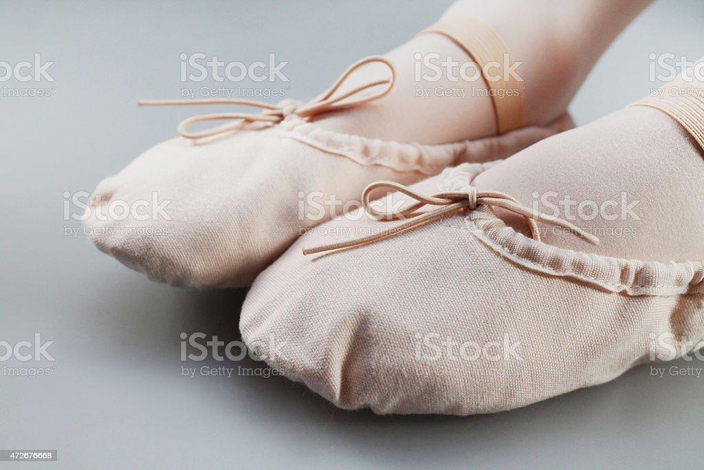 Ballet slippers stock photo
