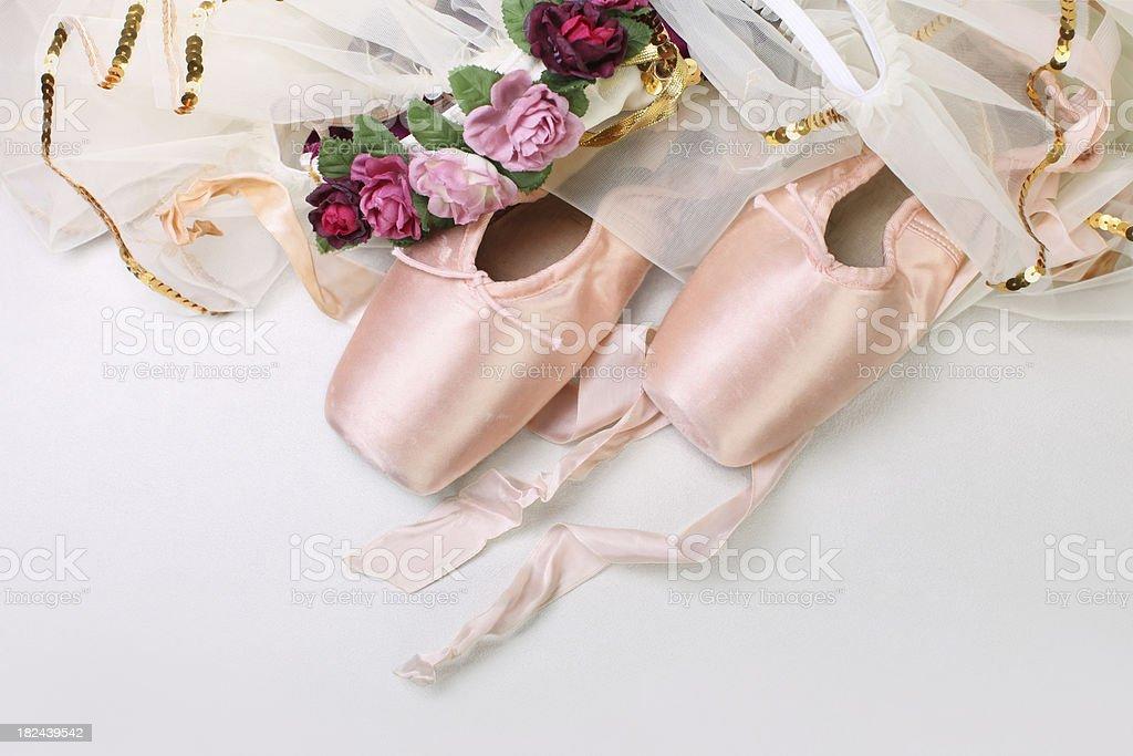Ballet Slippers with Elegant Tutu stock photo