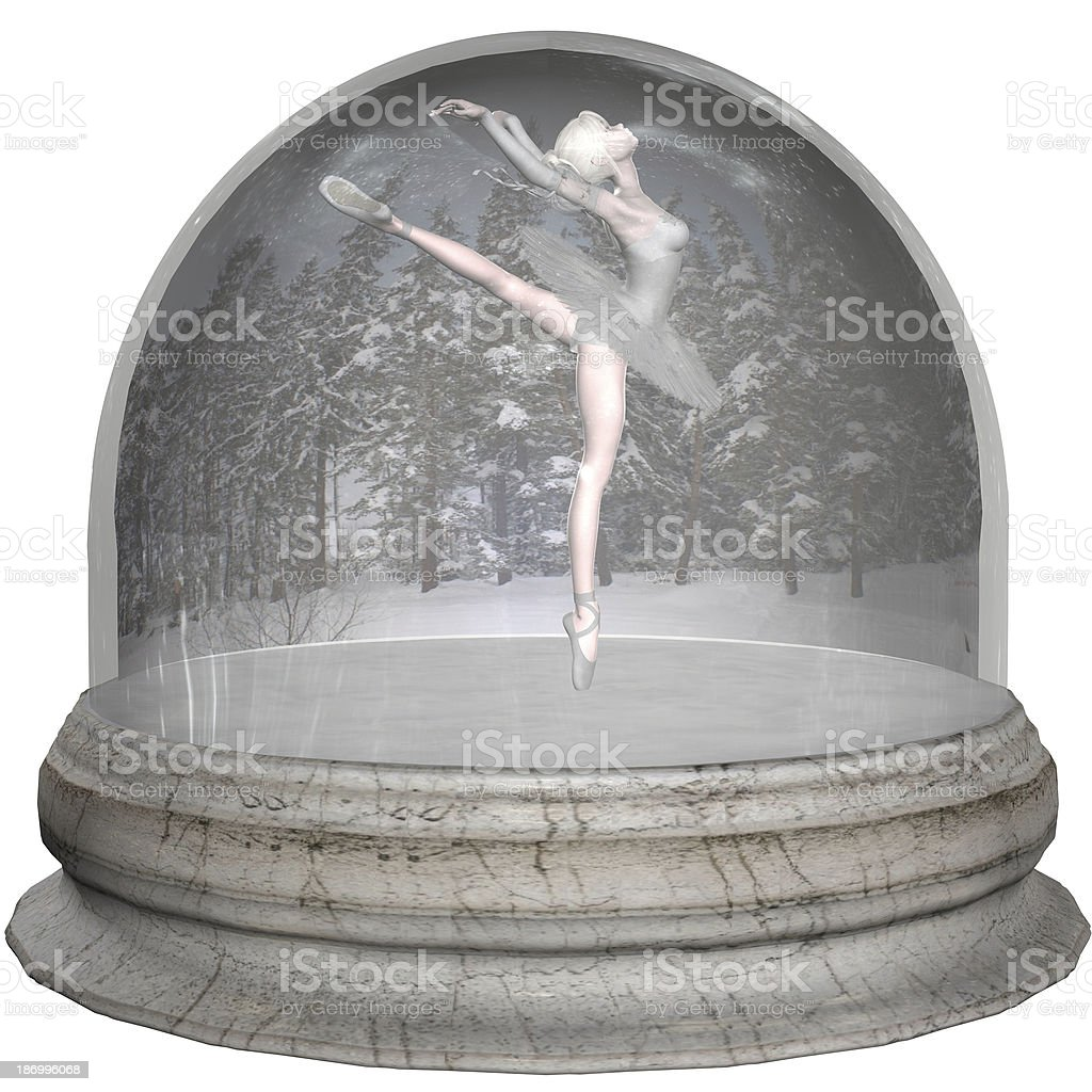 Ballet Snowglobe royalty-free stock photo