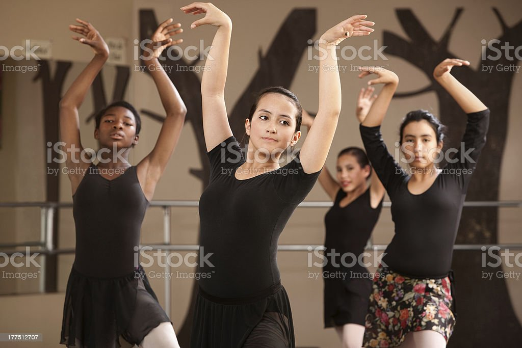 Ballet Students Practicing stock photo