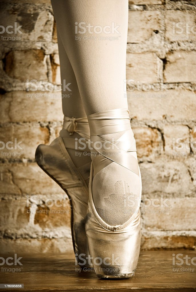 ballet toes stock photo